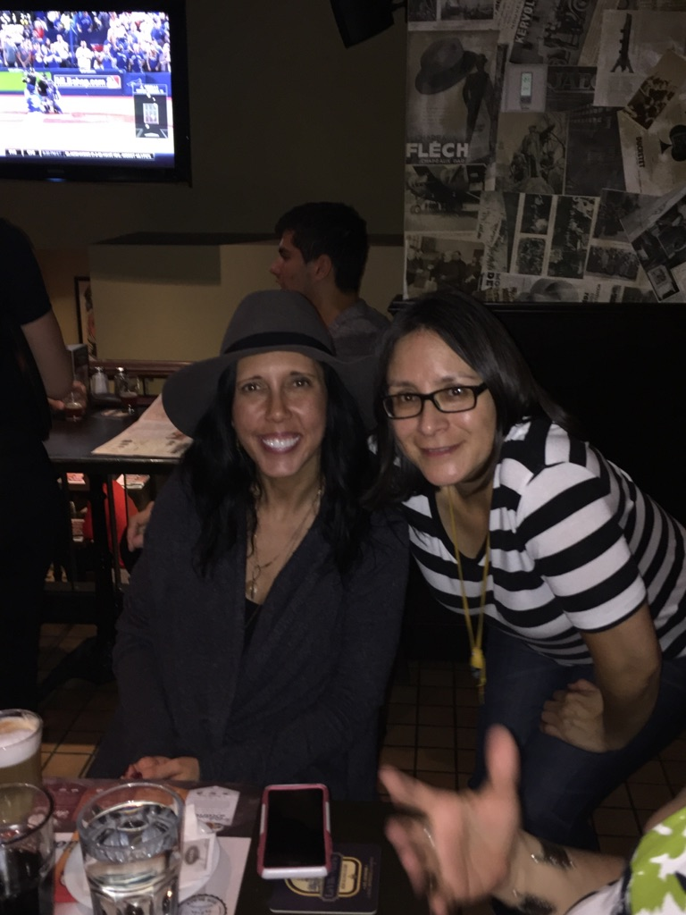 Me and the Boss/Mentor/Supervisor at the HQP networking event on Tuesday night - Les Trois Brasseurs
