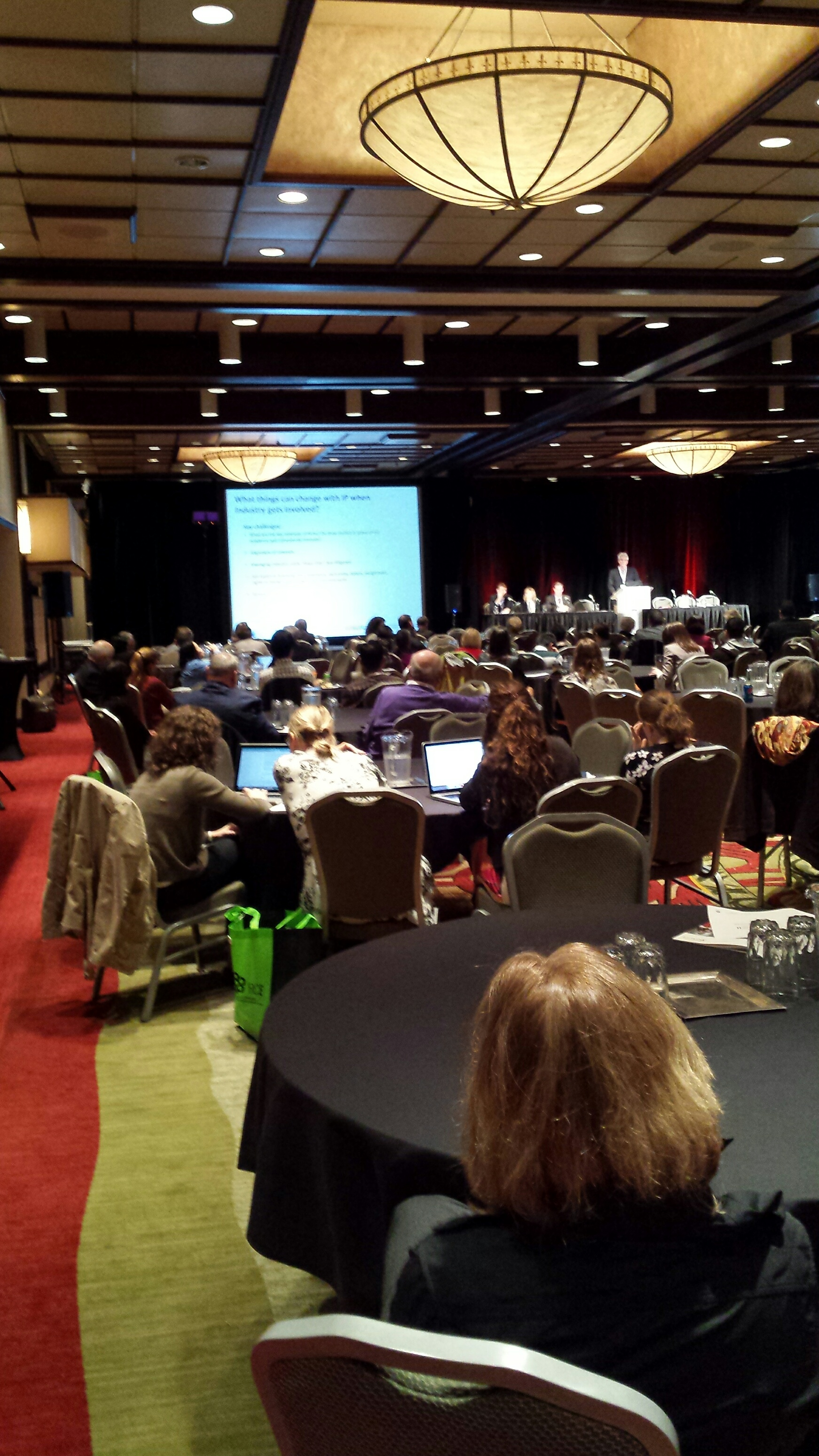Last day of the conference - the room is filled with innovators, caregivers, researchers.