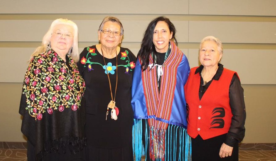 Carrie, Elder Hilda, Elder Dot & Kookum Betty McKenna