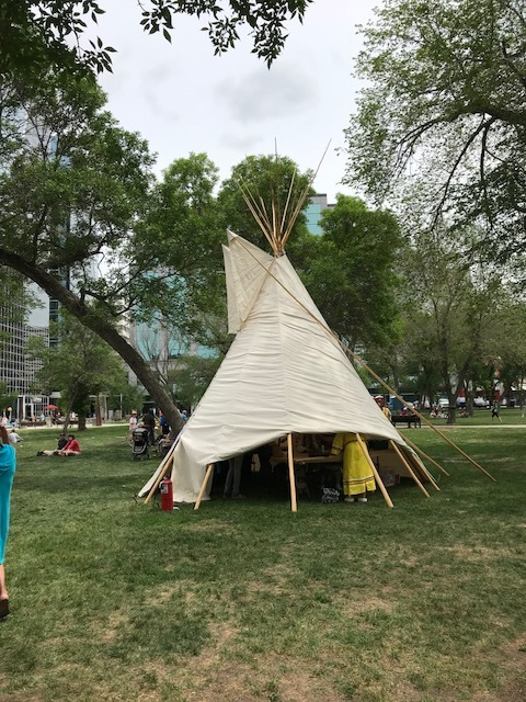 Teepee on display in Victoria Park, Regina, SK.(1)