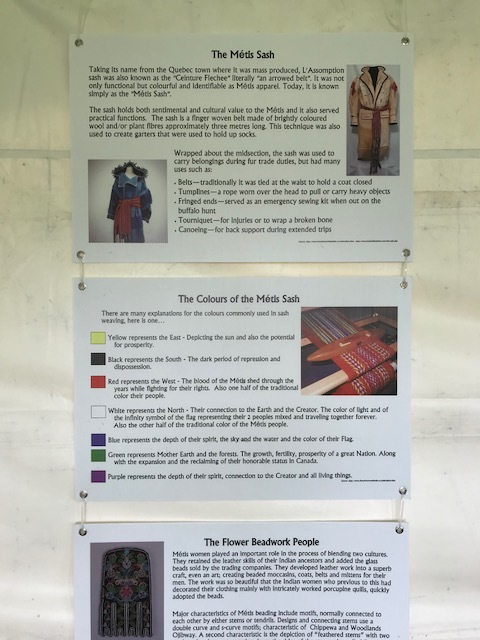 Educational displays on the Métis people and culture.