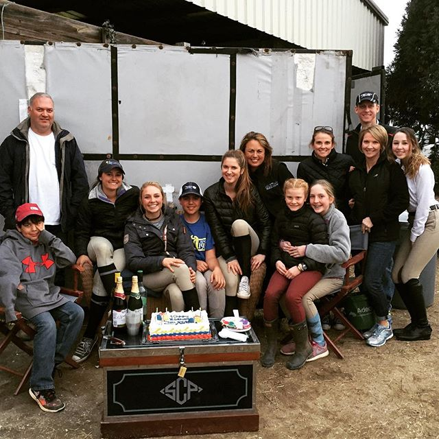 Happy 14th Birthday to @austincumming_20! Cake and birthday celebrations were a great way to end our Saturday of horseshowing in Aiken!