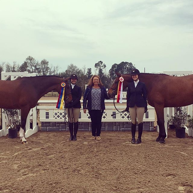 Congrats to our 3'6 AO hunters on being champion and reserve champion and 2nd and 3rd in the Amateur Classic this weekend!