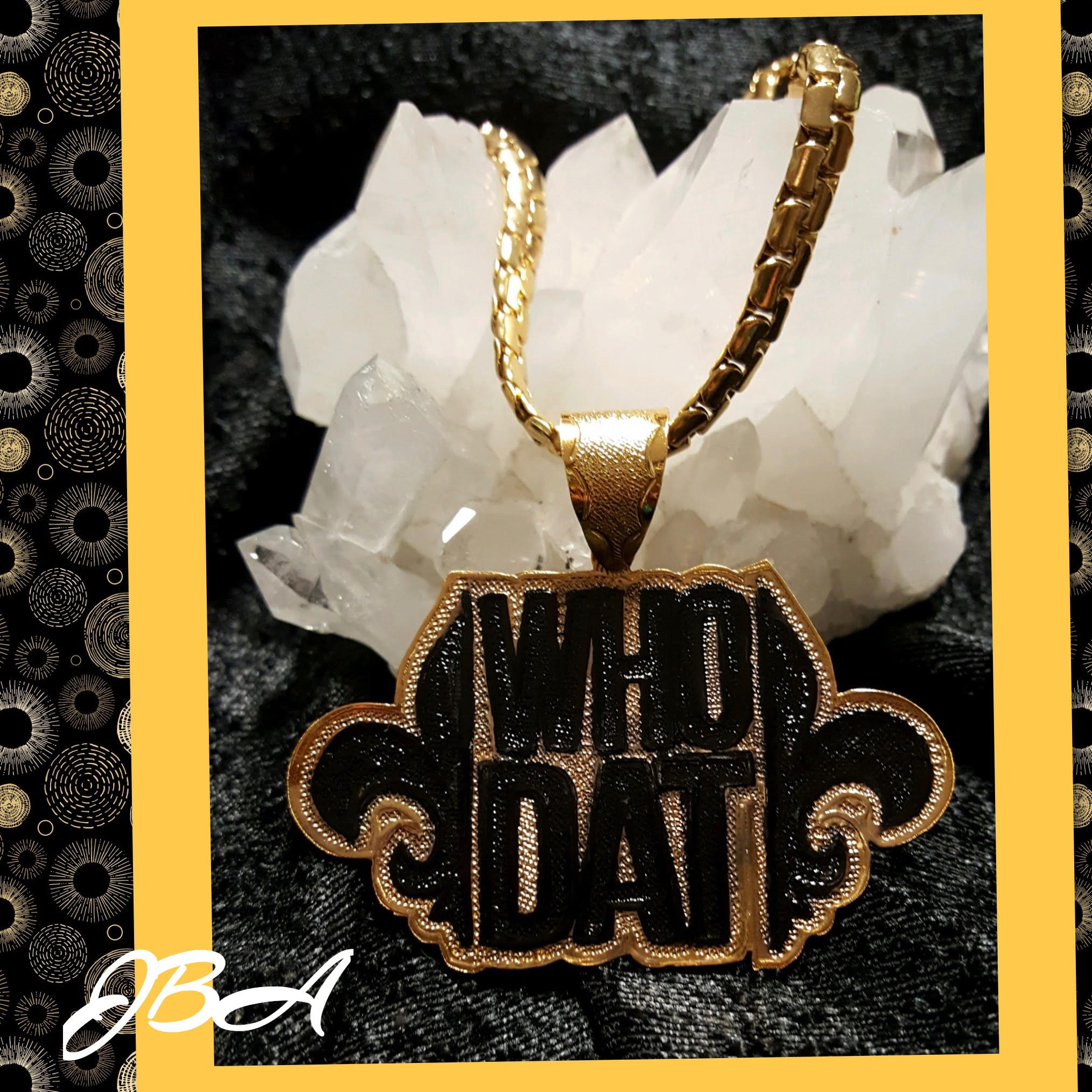 New Orleans Saints Who Dat Pendant — Just Beadin' Around