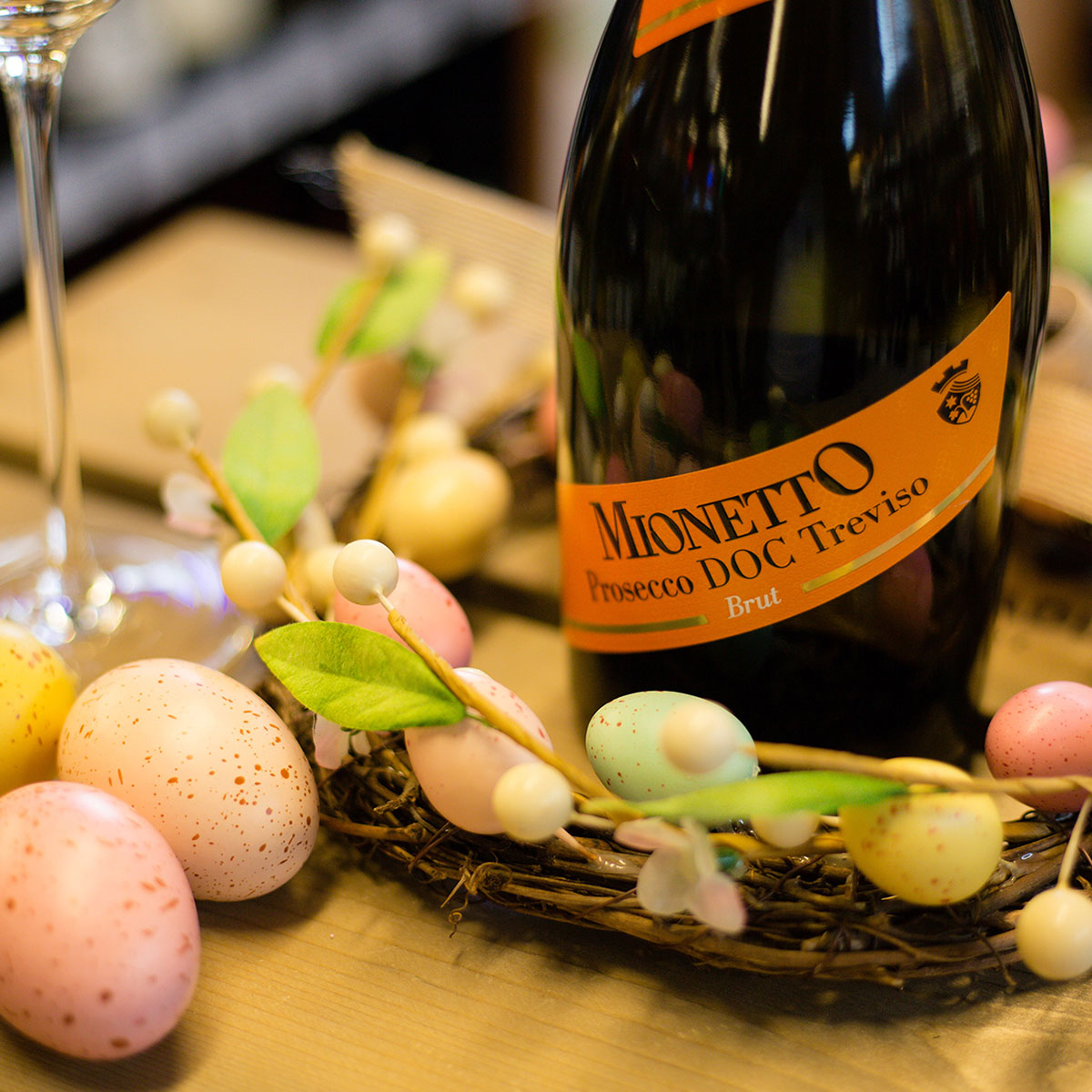 Mionetto Prosecco - Bubbles and brunch go hand in hand! Pair this lively and fruity treat with your hot-cross buns, deviled eggs, and quiche to impress all your Easter guests. $17.99 (750 ml) Treviso, Italy