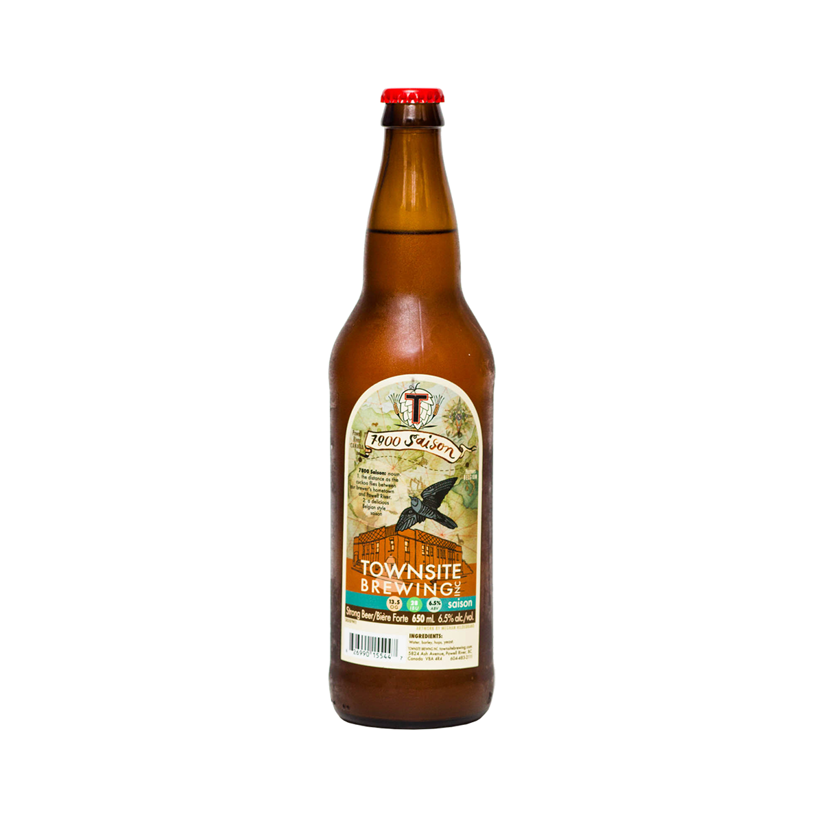 Townsite BrewingSaison - Crisp, mild sweetness and light coriander.$7.49 (650 ml)Powell River, BC