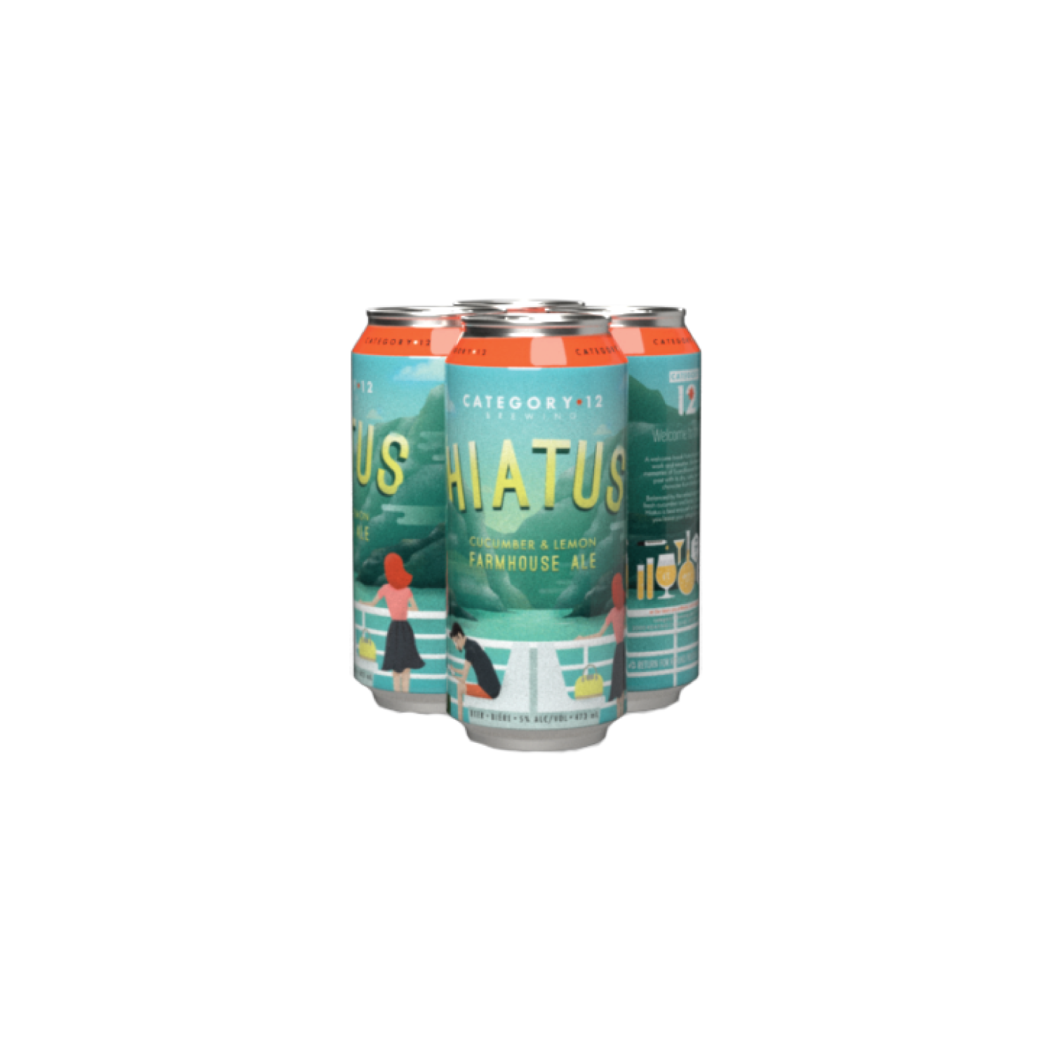 Category 12 Hiatus Cucumber and Lemon Farmhouse Ale - Escape the daily grind and take a