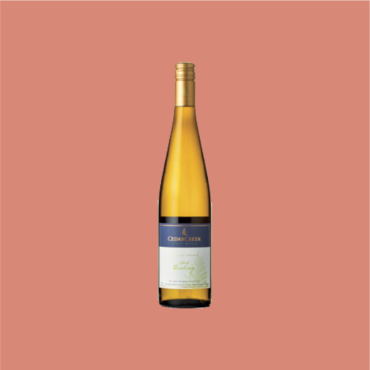 Cedar Creek Riesling - Bright and focused citrus acidity balances out its sweet stone fruits.750ml, $23.99