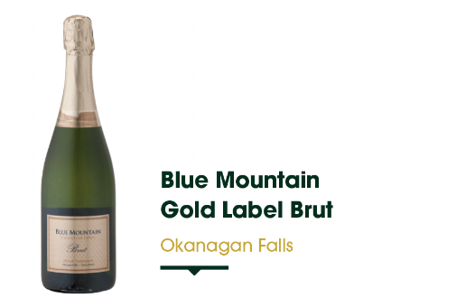 Blue Mountain Winery resides in Okanagan Falls and has been producing sparkling wines since the 1970s. The Gold Label Brut is a staple made in the traditional method. Enjoy its fine mousse texture, creamy lemon, toasty character and crisp lemon finish.   $30.99 - 750 ml