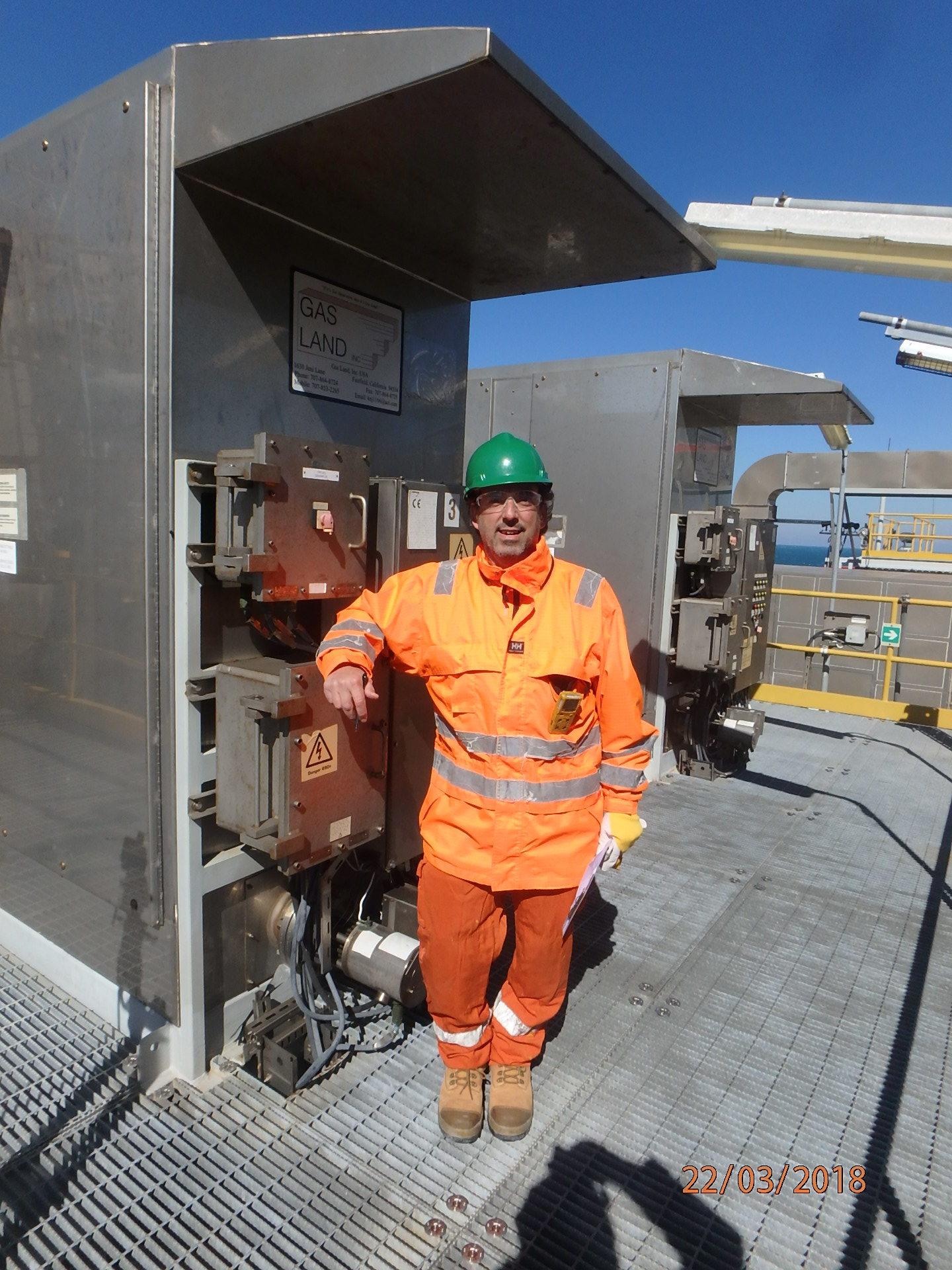 CEO Khalil N. Jaber, Jr., with Gas Land's Nitrogen Generation Systems