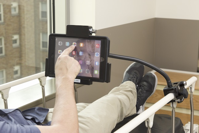 tablet mount for hospital beds