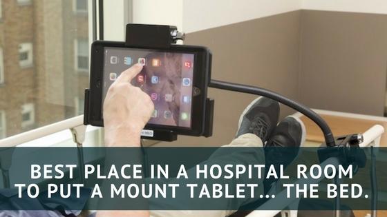 tablet mount for hospital