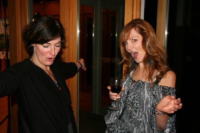 Liz and Victoria looking rad!