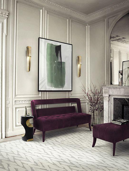 Purple ultra violet Velvet chair