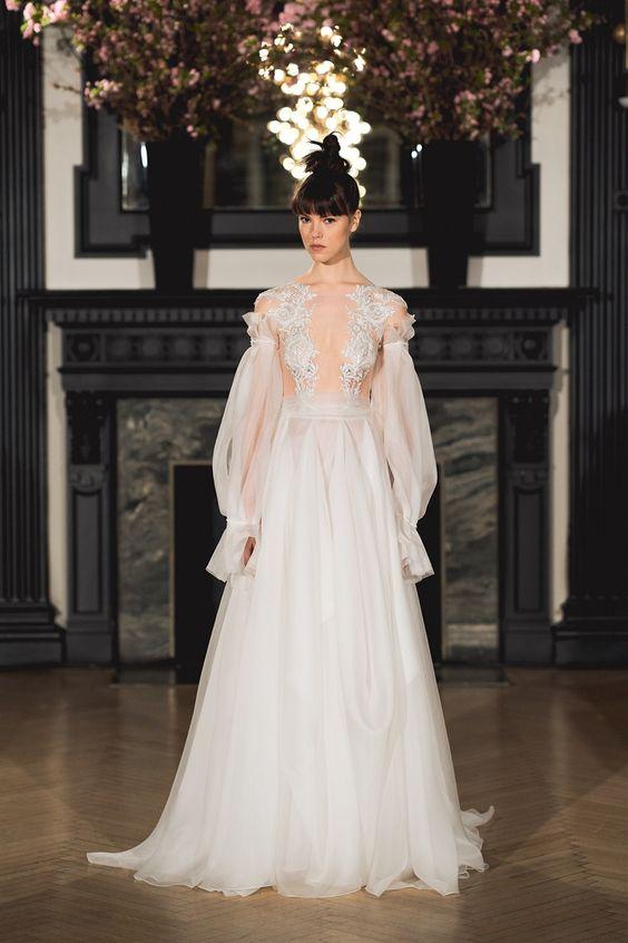 volume sleeves_2019 wedding dress trends