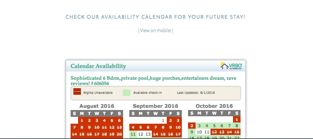 LIVE calendar updates?! YES!