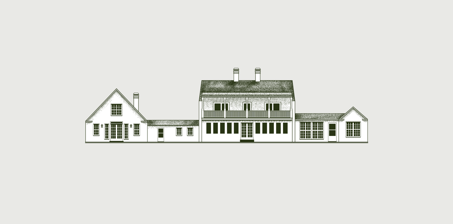 This architectural drawing was made and printed on shirts for a Virginia family reunion.