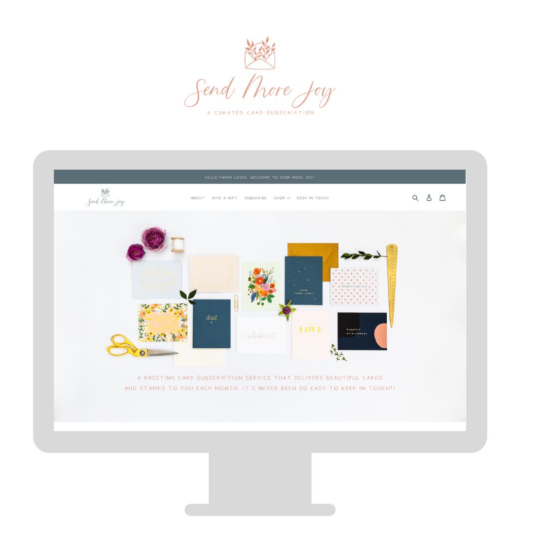 Send More Joy Shop Design by Trek Your Market
