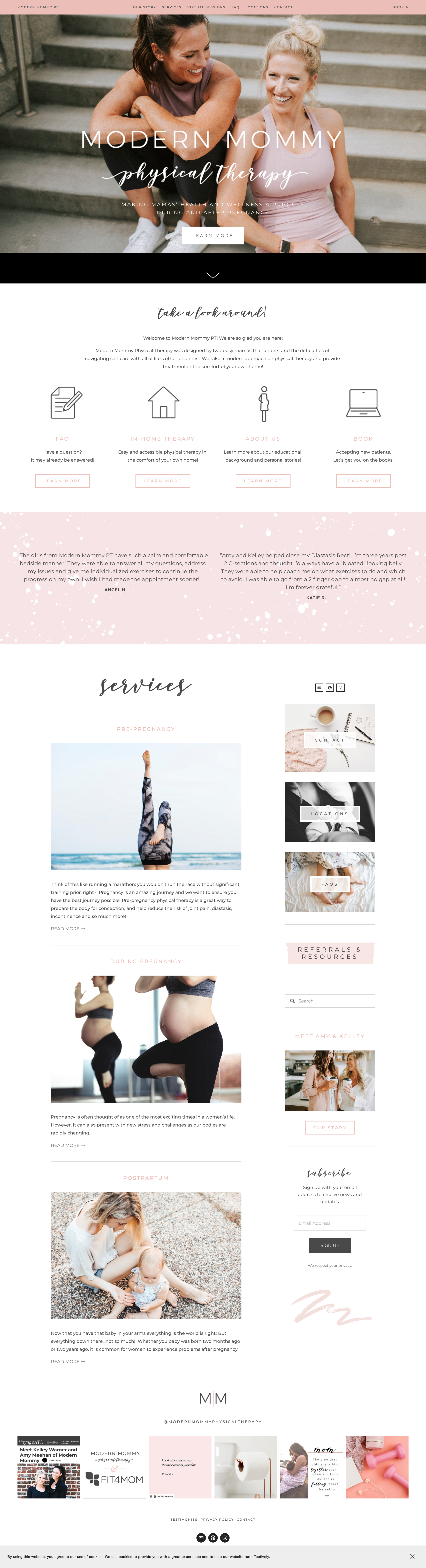 modern mommy pt website by trek your market