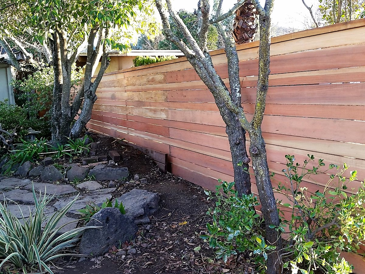 Fence with Horizontal Planking - San Rafael, CA