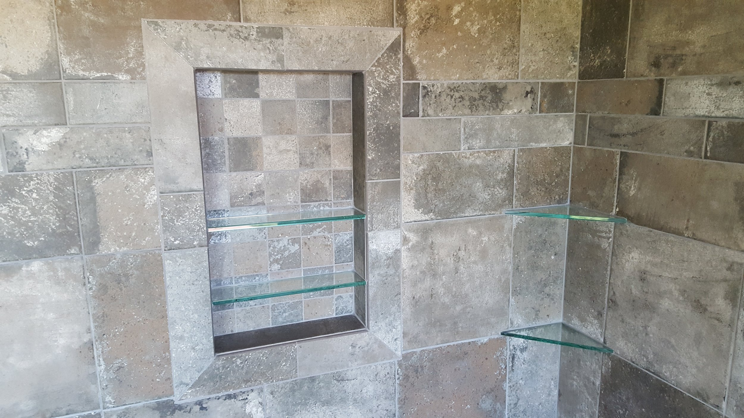 Rustic Shower Remodel - Novato, CA