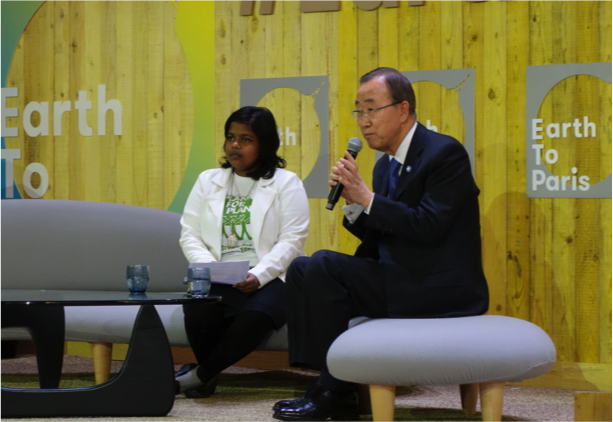 UN Secretary General Ban Ki-moon speaks to the Earth to Paris event, urging us all to think critically of their actions.