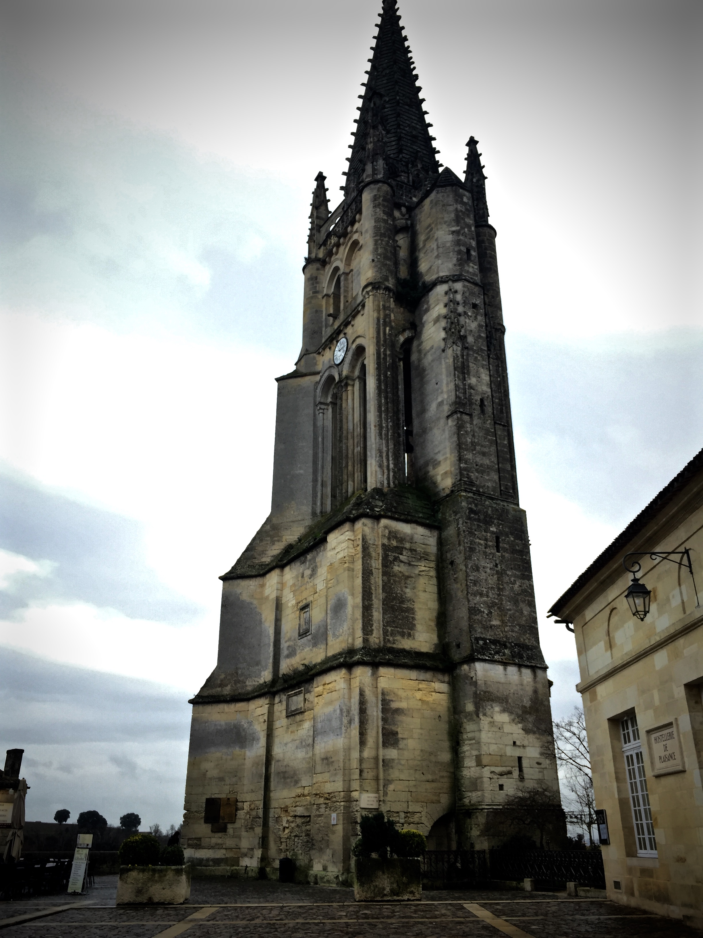 Monolithic church bell tower. A stunning view from the top, and some beautiful architecture as well.