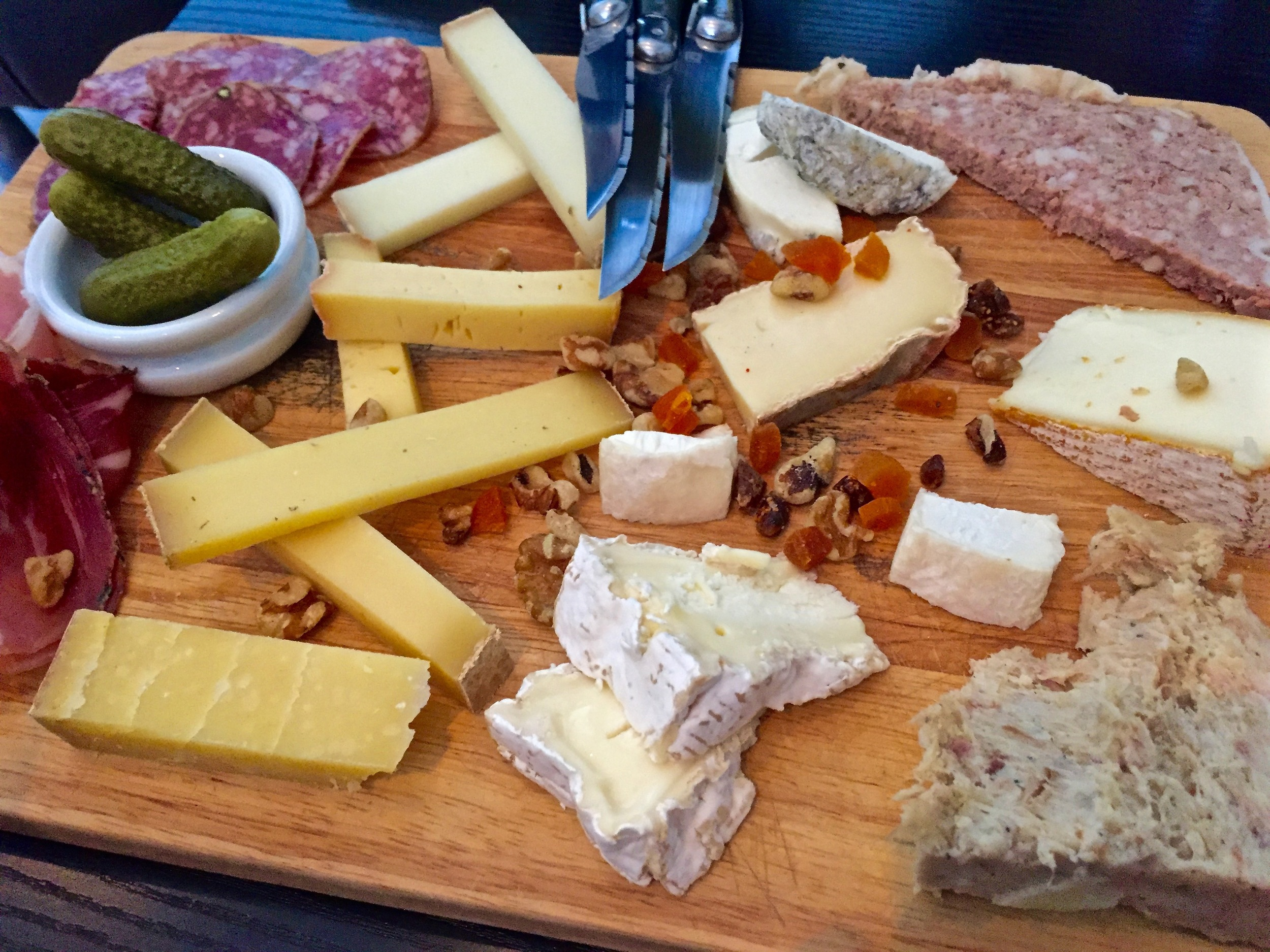 Cheese plate from Saumur.