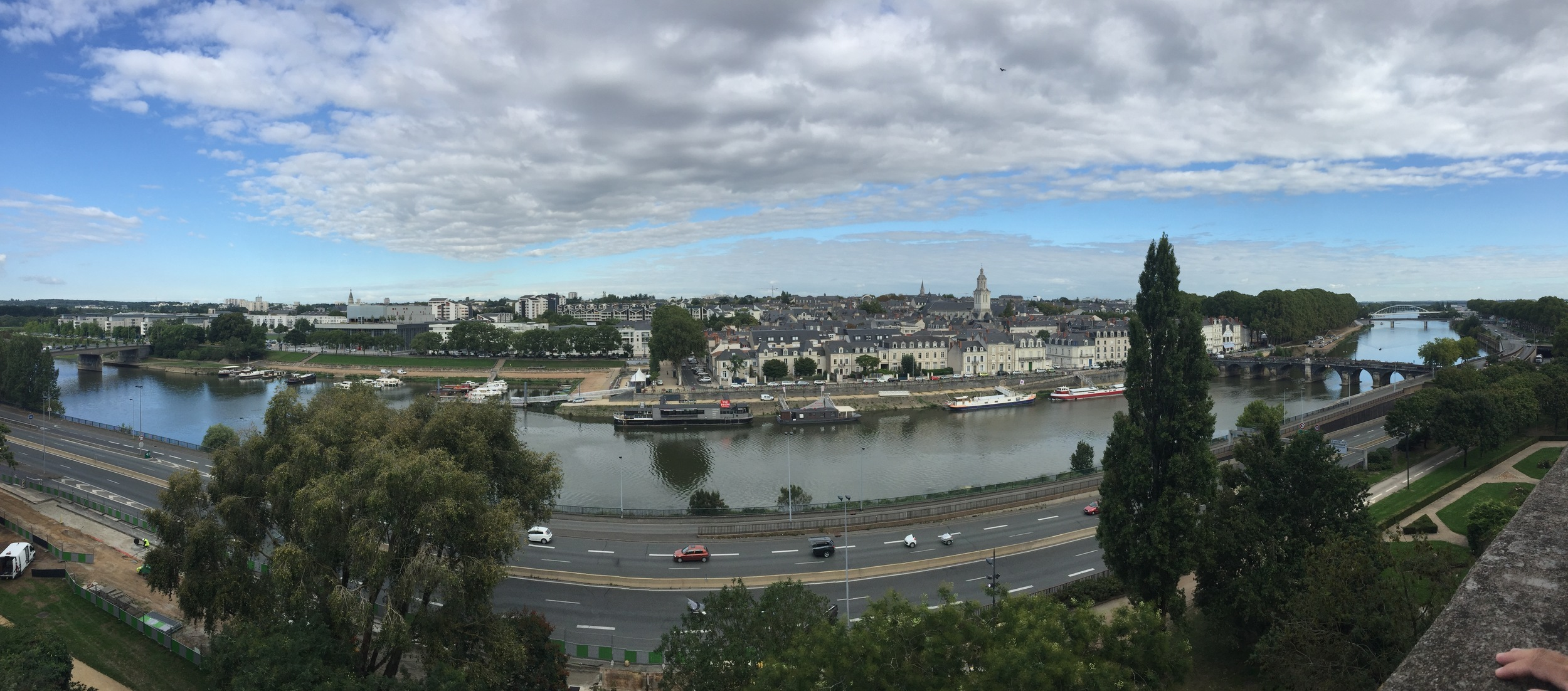 View from the chateau of La Maine and Angers.