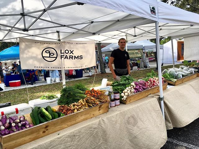 Justin and Allie are up in Gardens for the green market. Stop by for a deal on arugula! We have plenty.