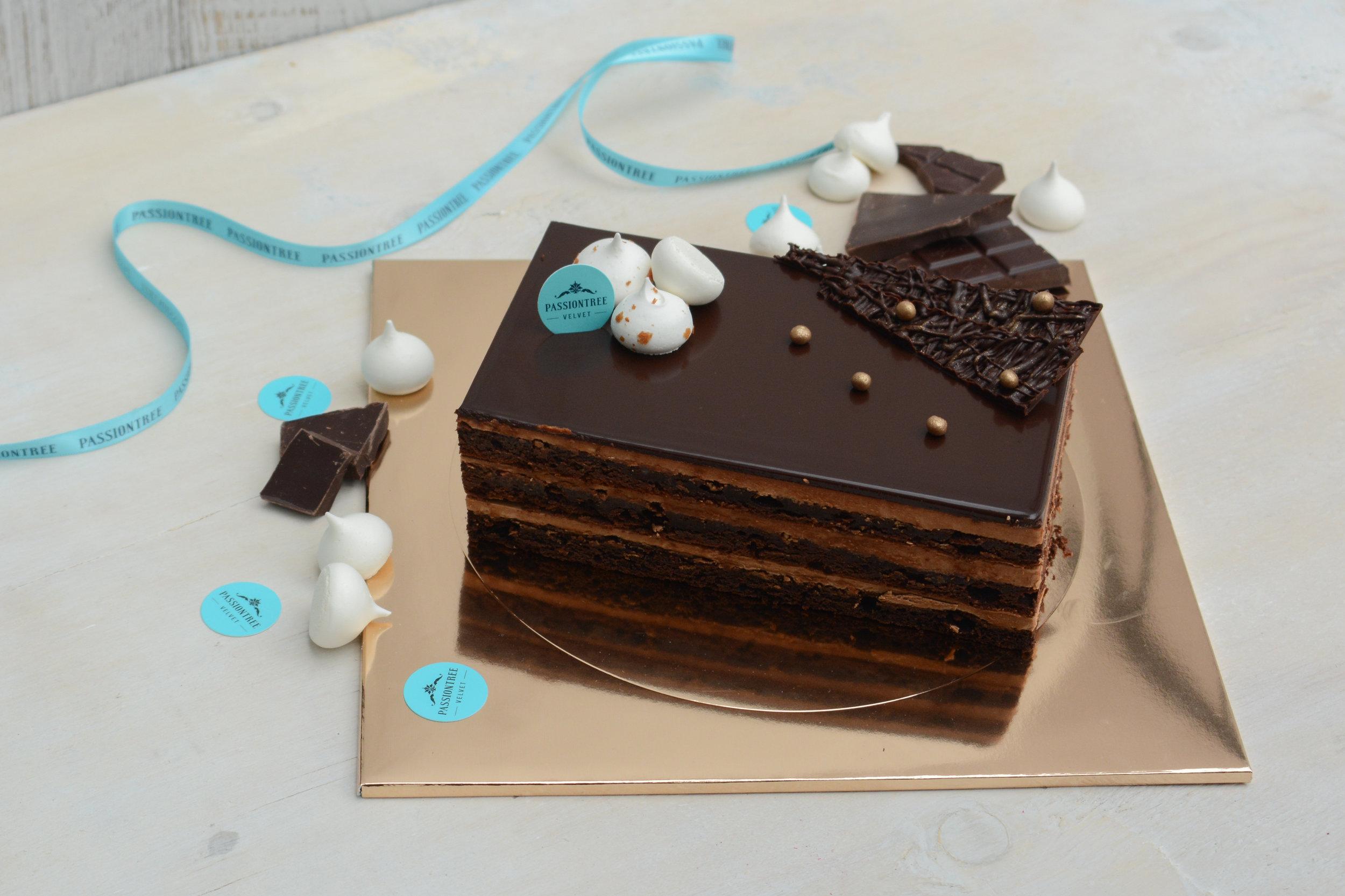 passiontree velvet chocolate truffle whole cake