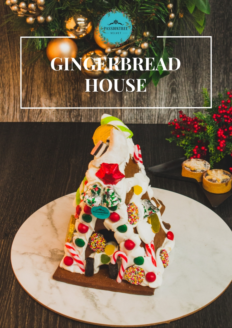 Gingerbread House:  Elaborate gingerbread house decorated in frosting, lollies and chocolates.Perfect for sharing amongst families and friends!