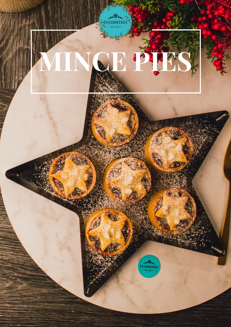 Christmas Mince Pies: Fruity with spice and all things nice! A must during the festive season - indulge in Passiontree Velvet's delicious Christmas Mince Pies in our pack of 6!
