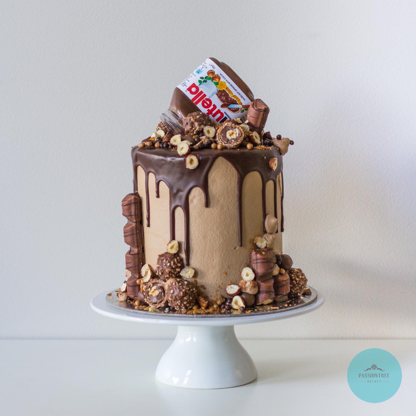 "6"" Passiontree Velvet Custom Birthday Cake"