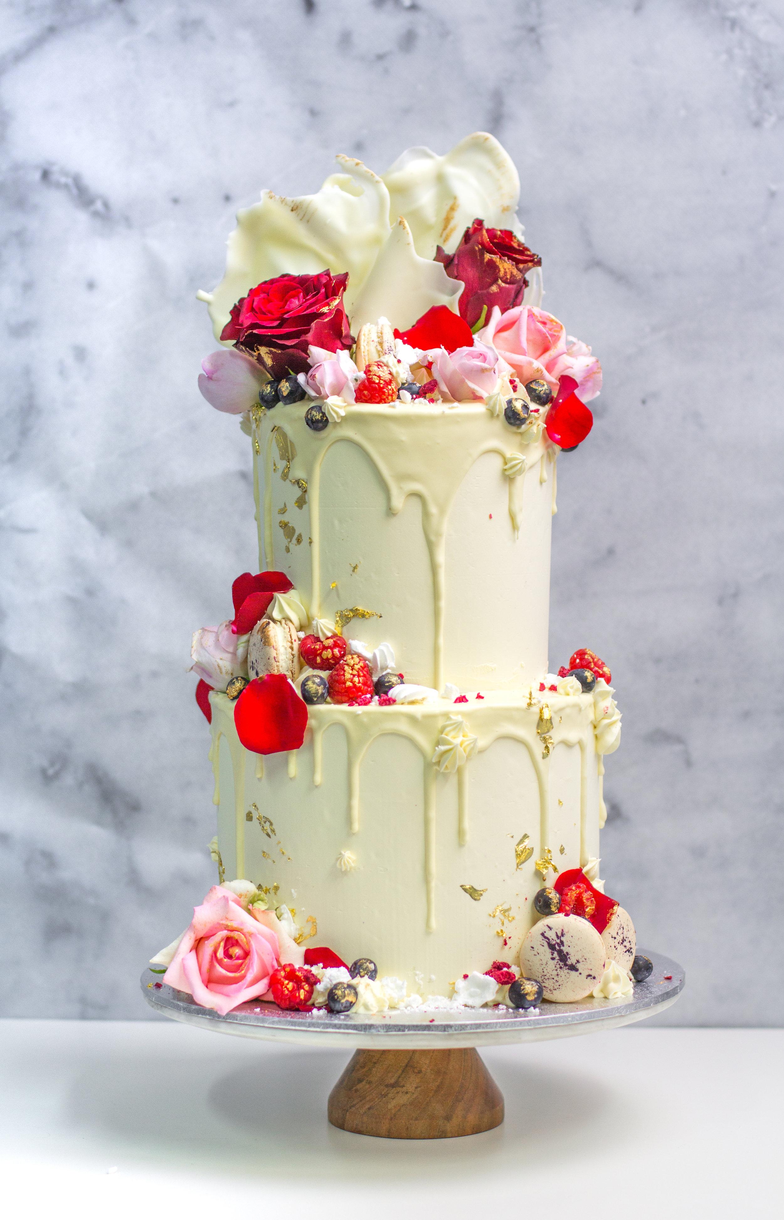 """8"""" + 6"""" Passiontree Velvet Custom Cake"""