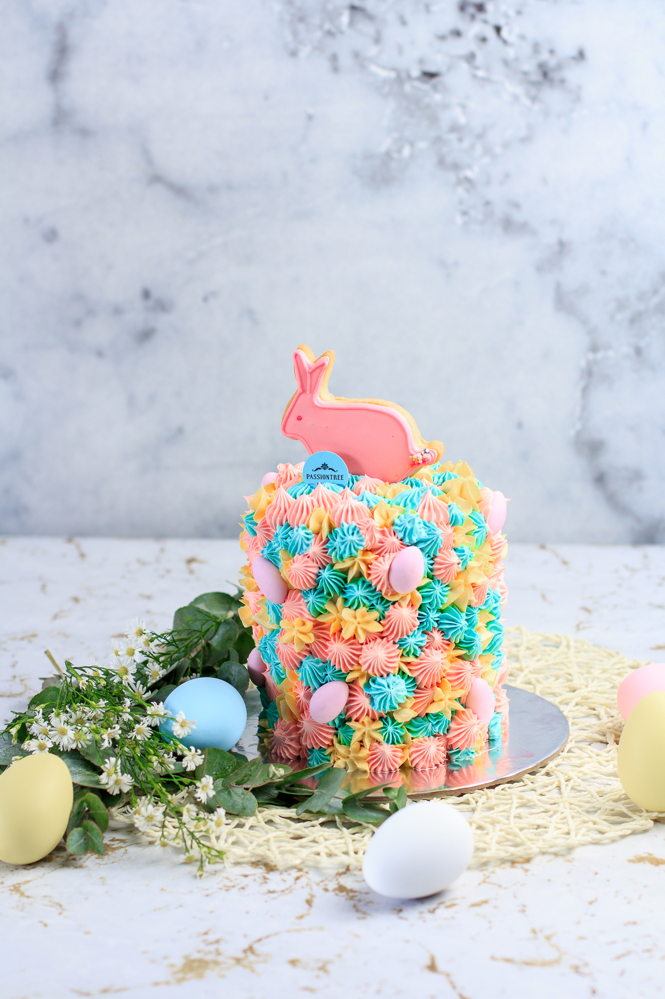 Passiontree Velvet Bunny Biscuit Easter Cake