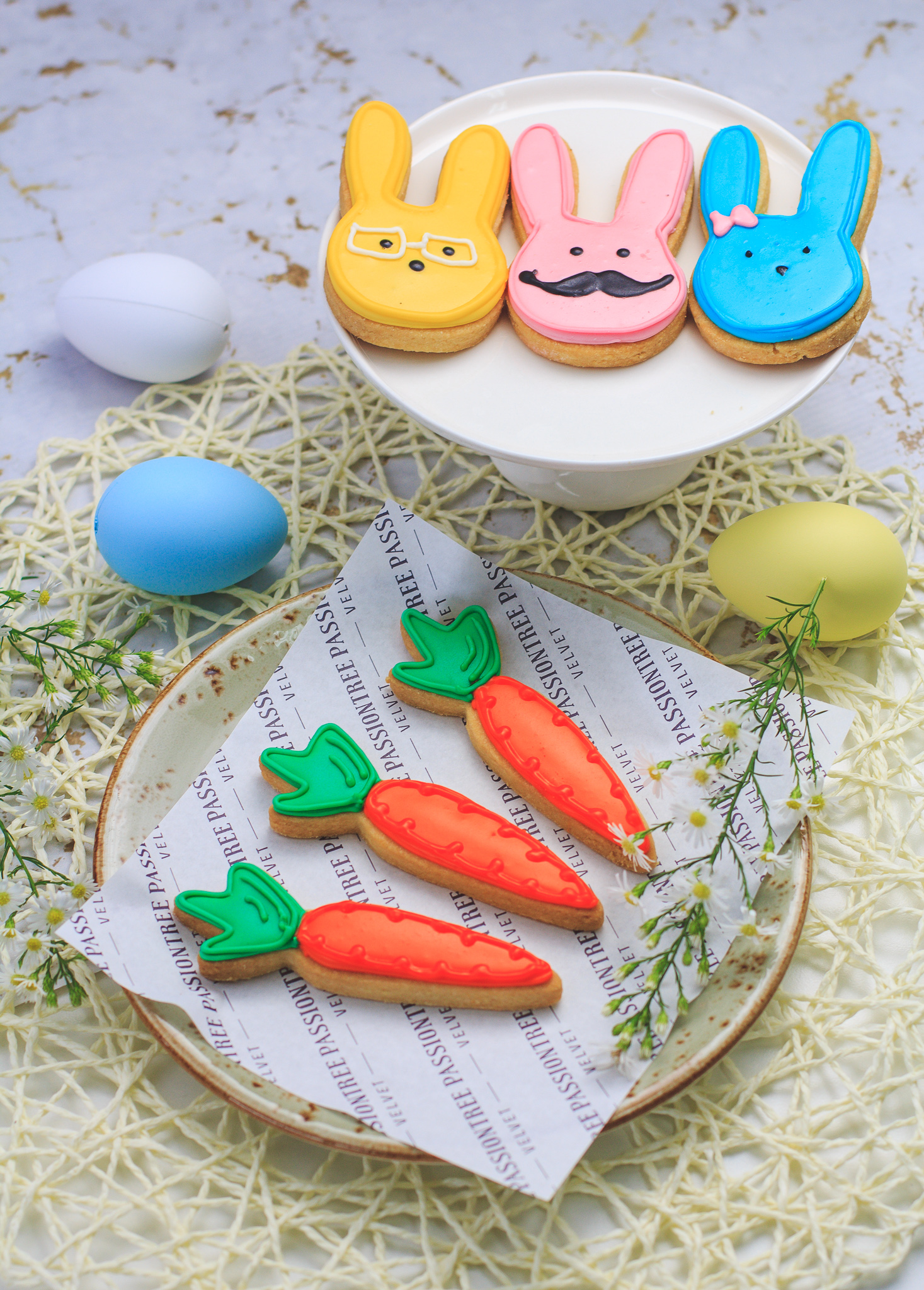 Passiontree Velvet Bunny Carrot Biscuit Easter