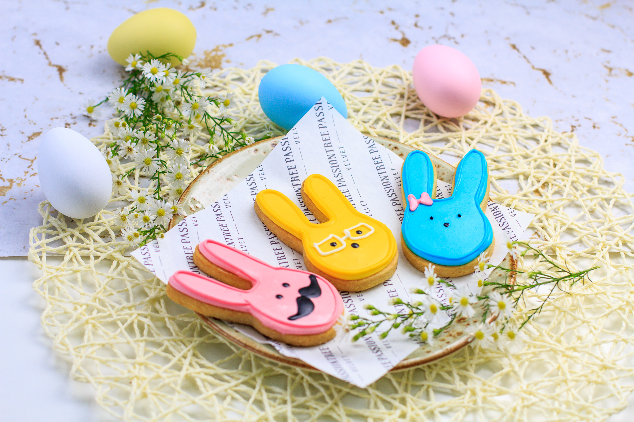 Passiontree Velvet Bunny Biscuit Easter