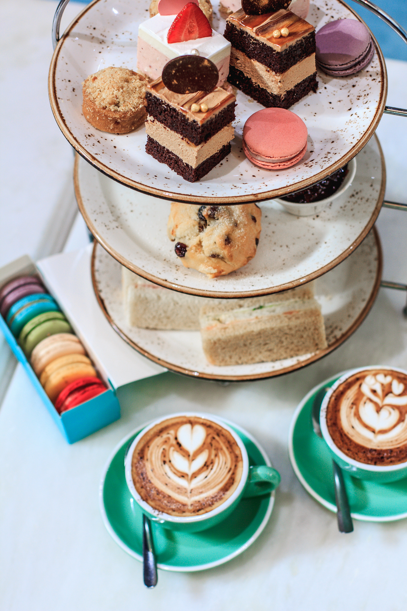 Mother's Day Duchess High Tea for Two with a complimentary 6pc Macaron Gift Box