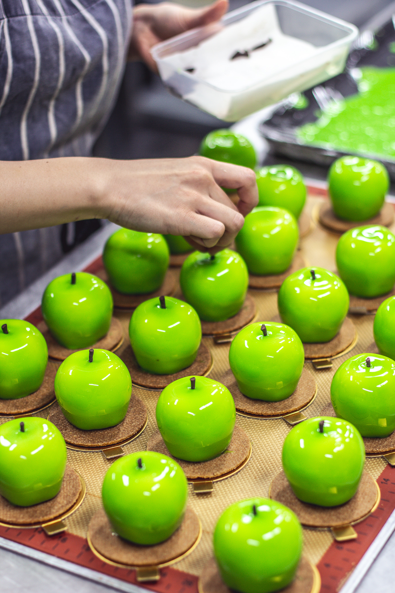 Final touches on our Apple Delight