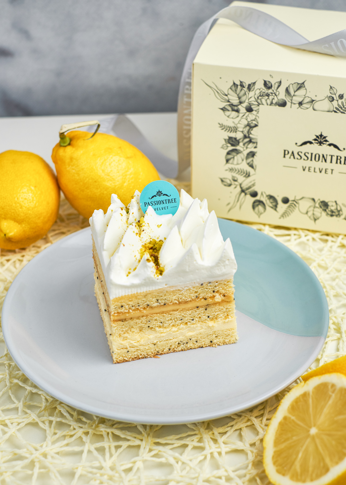 Lemon Poppyseed Piece Cake