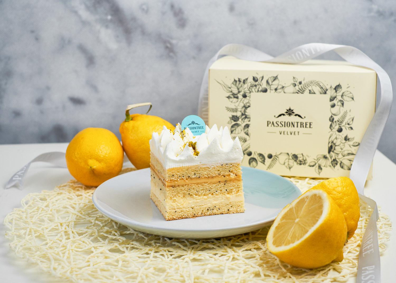 Passiontree Velvet Lemon Poppy Seed Piece Cake