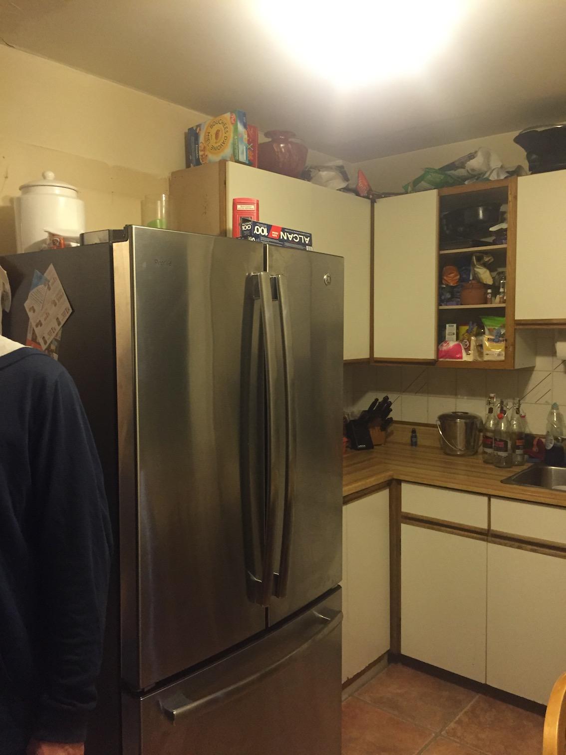Kitchen, before.