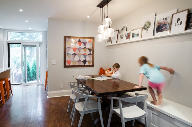 Candyland in the dining room anyone?  Photo by Melanie Gordon Photography.
