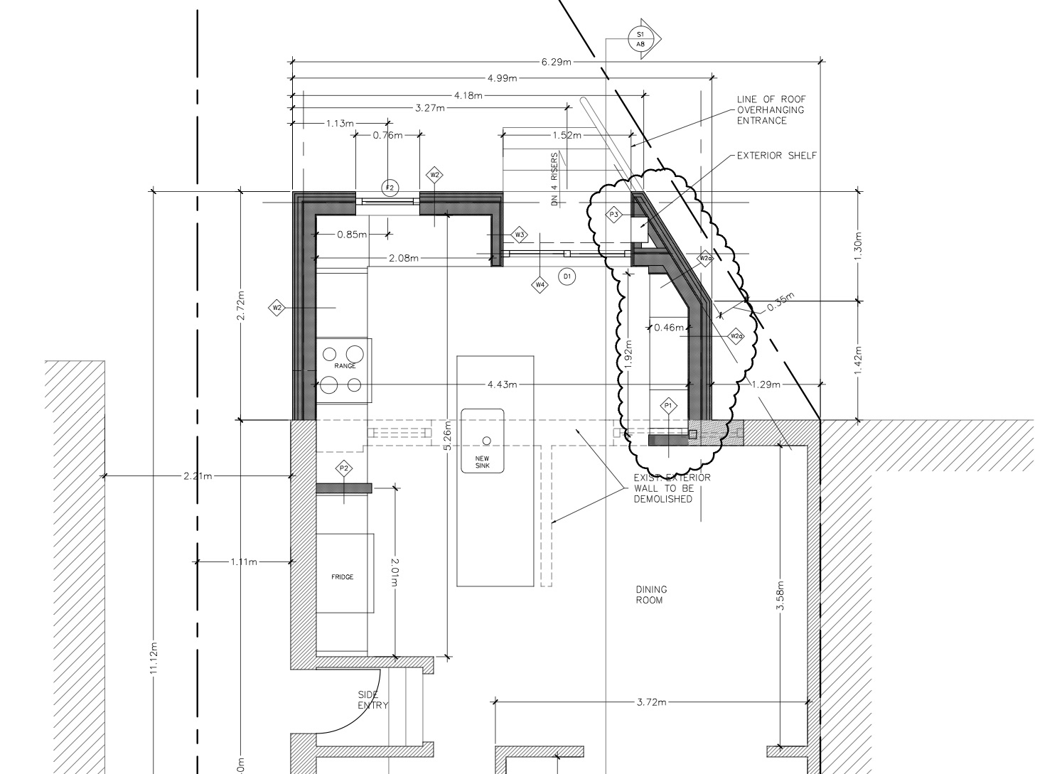 Plan view of the 9'x14' addition.