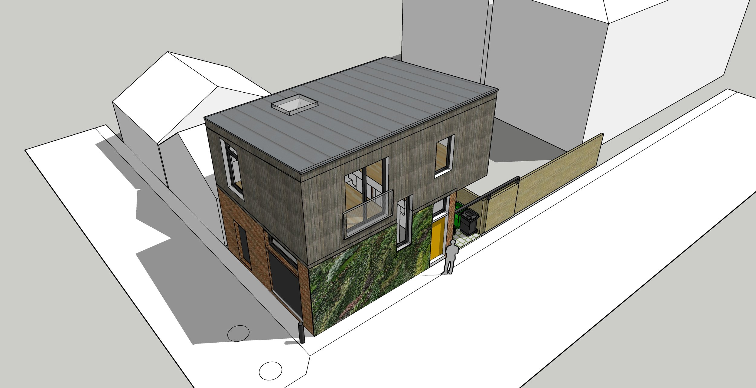 A laneway suite proposal by Drôle House