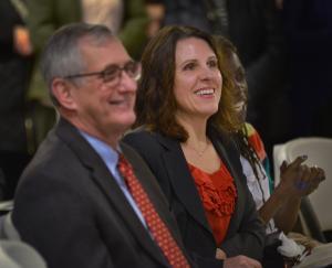 From left: Portland Mayor Charlie Hales, Multnomah County Chair Deborah Kafoury and Humans Solutions board member Jo Ann Hardesty.