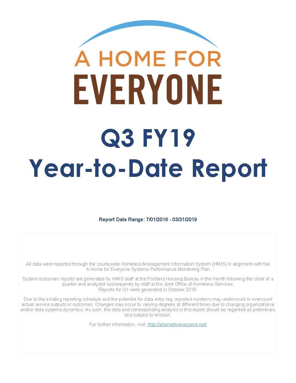 Q3, Fiscal Year 2019