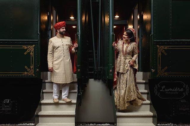 This shot was too cute to pass up.  @harisnsiddiqui  @hibzd0ntlie . . . . . #lumierephotographyus#chicagoweddingphotographer#chicago#nikon#photography#indianbride#indianwedding#pakistanibride#pakistaniwedding#thepakistanibride#maharaniweddings#theknot#shaadi #desiwedding #chicagophotographer #portrait #weddinginspiration #editorial #bride #makeup #wedding #weddingphotographer #weddingphotography #southasian #southasianwedding #indianaweddings #indianapolis #crowneplaza #train #trainstation