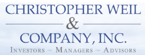 "An image of the Christopher Weil & Co. logo, featuring the tagline: ""Investors - Managers - Advisors."""